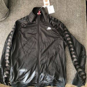 Kappa Black/Black/White Track Jacket